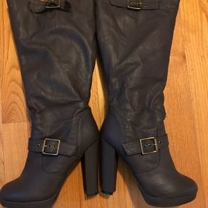 Torrid brown heeled boots 8w